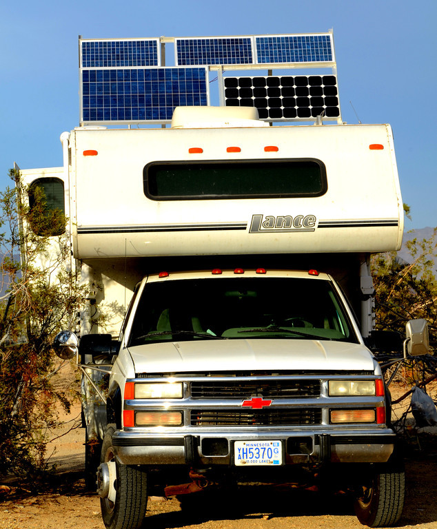 With no electricity, the use of solar panels is widespread.