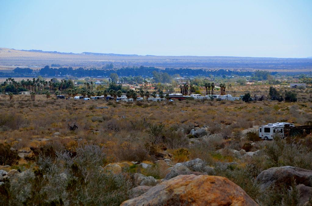 View towards Boreggo Springs.