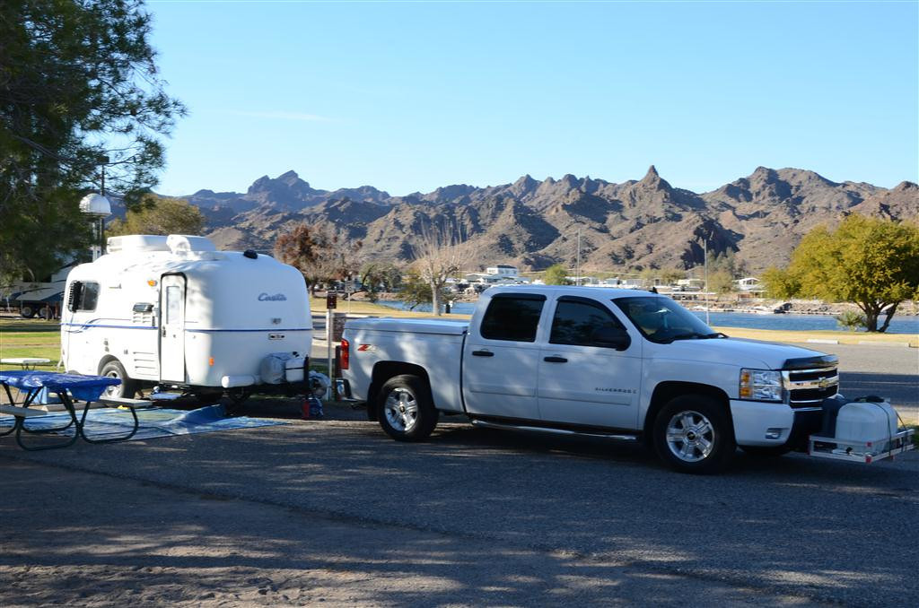 Located along the Colorado River, Buckskin Mountain State Park was a great location for a Casita Gathering.