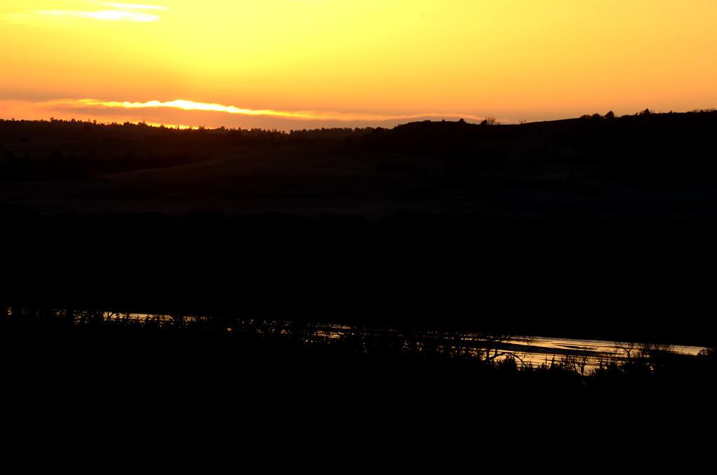Sunset on the Niobrara
