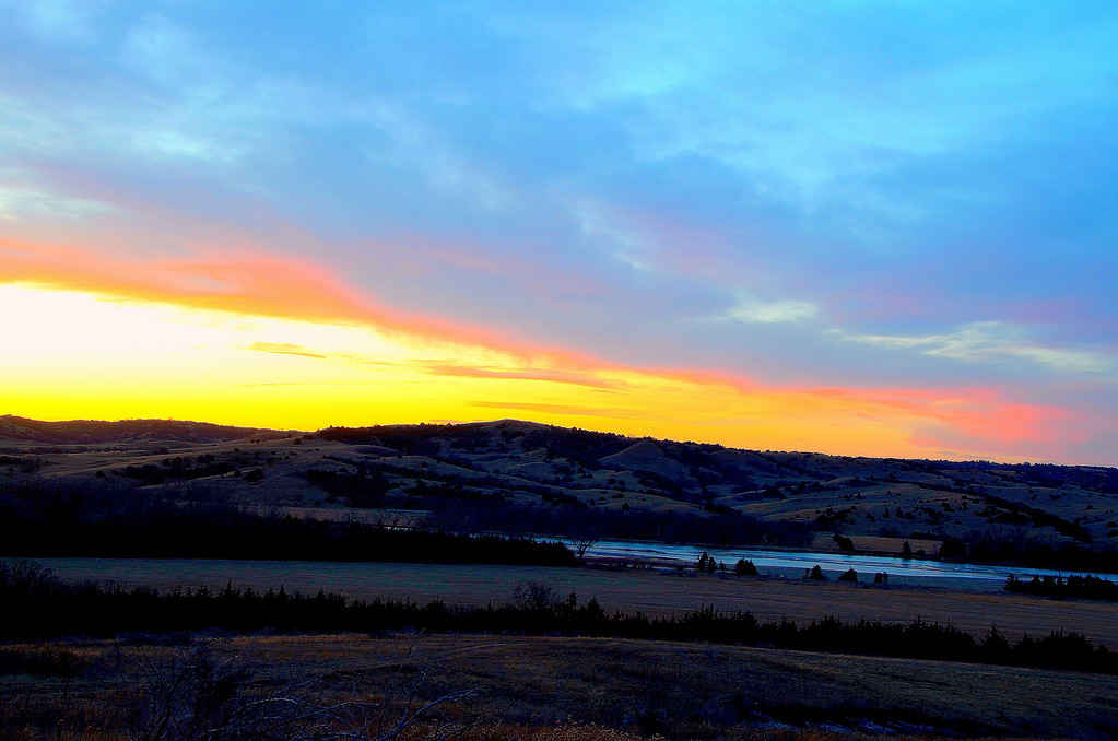 A palette of many colors paints the sky above the Niobrara.