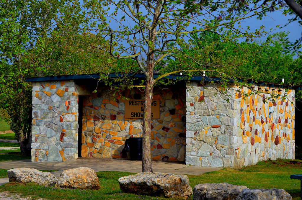 Restroom and Showers at Turner Falls RV area