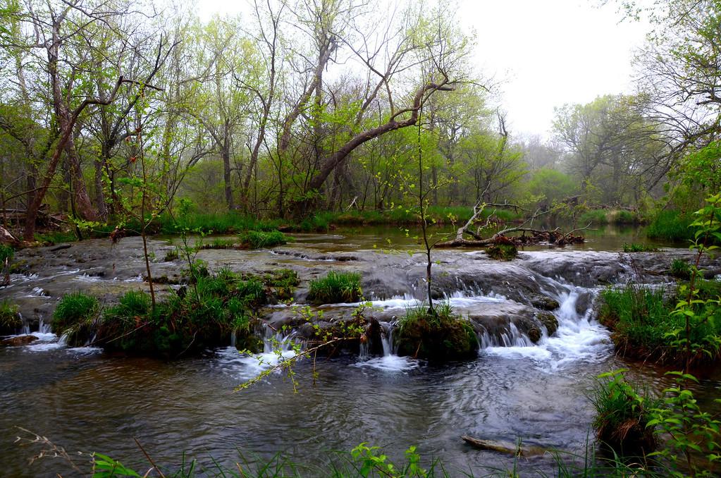Honey Creek behind my campsite