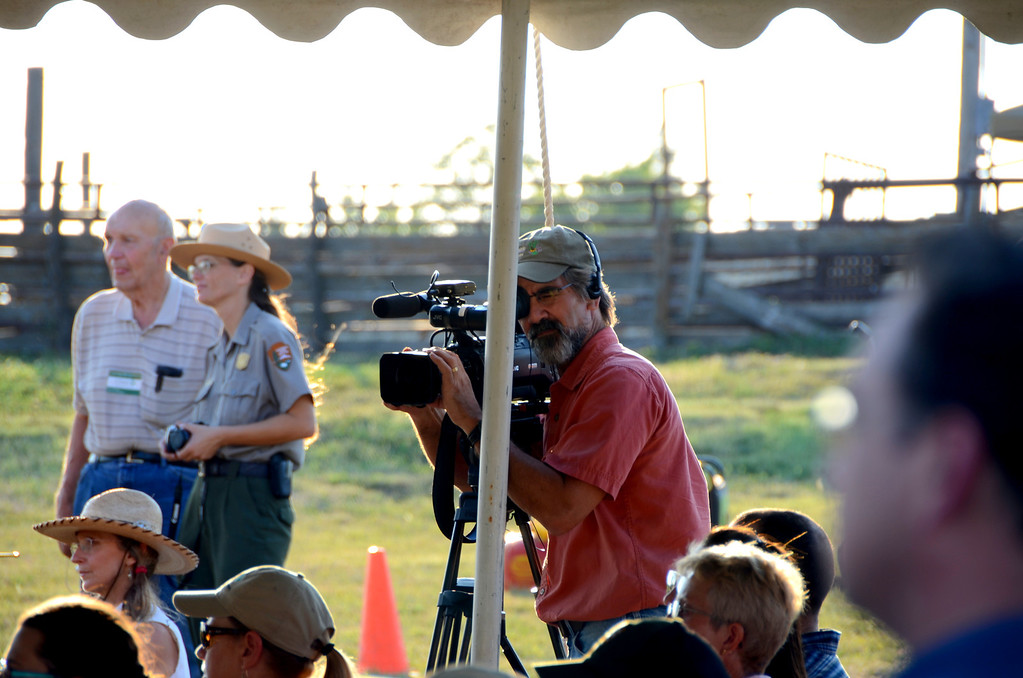 """Dave Kendall the producer and host of """" """"Sunflower Journeys,"""" a popular PBS televison series about Kansas history, heritage and culture is present to document the event. I have enjoyed many of his journeys in the past."""