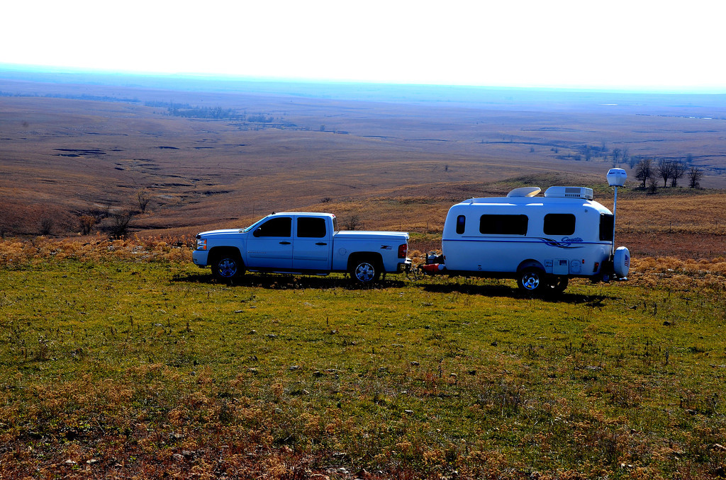 Kansas Flint Hills - Teter Rock<br /> <br /> The view from the top of the hill goes on for miles.