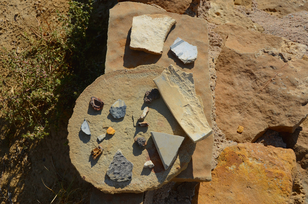 Pueblo Alto Trail<br /> <br /> Pottery shards at New Alto.