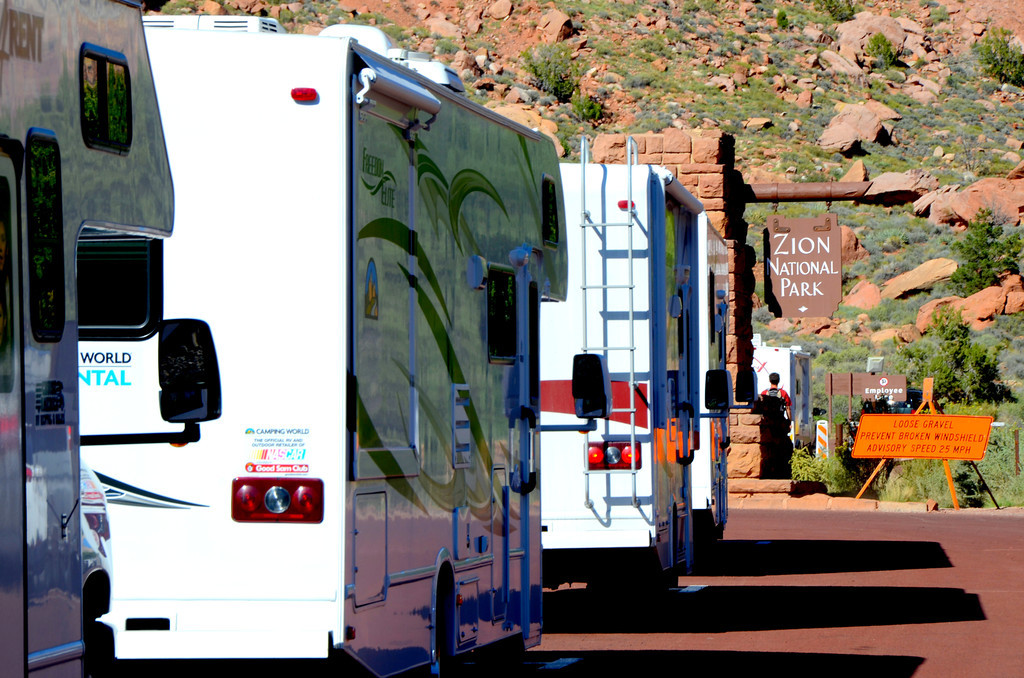 Big rental RVs, many with foreigners, now seem to dominate our National Parks in the Southwest.