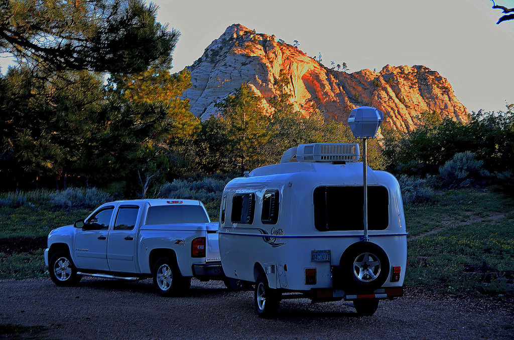 Kolob Terrace Road<br /> <br /> I find a high altitude spot with a view to spend my first night in the park. I leave the campsite in morning darkness to ensure I arrive at South Campground early enough to get a campsite for the remainder of my stay.