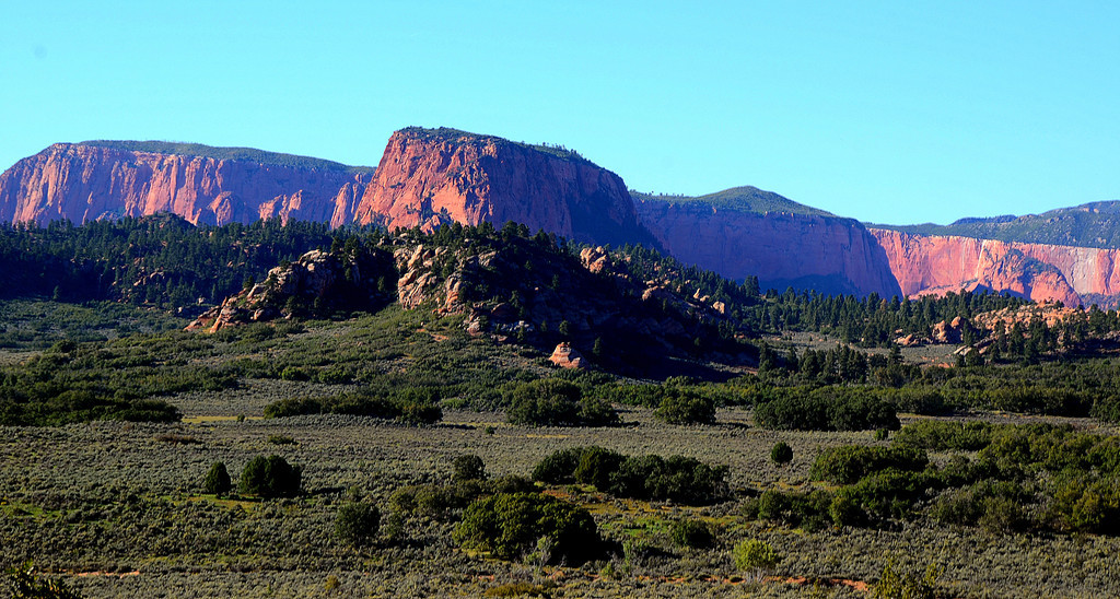 Kolob Terrace Road<br /> <br /> The views along the way are beautiful. The road terminates at Kolob Reservoir.