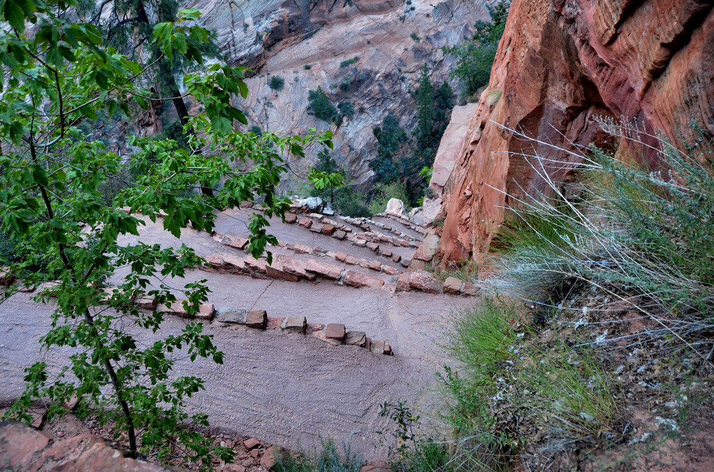 Angels Landing<br /> <br /> Along the trail you find a steep set of 21 switchbacks deemed Walter's Wiggles. These were engineered by the first superintendent of Zion.