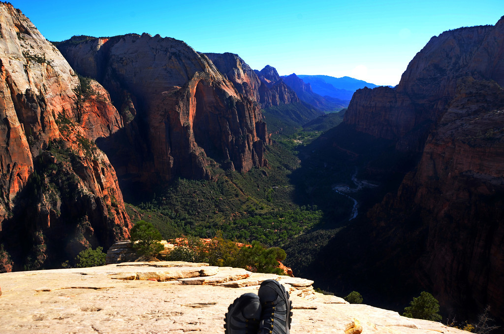 Angel's Landing Hike<br /> <br /> A good place just to contemplate the beauty of Zion Canyon.