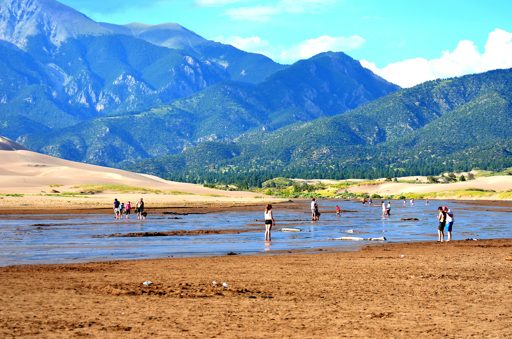 Medano Creek adds much to Great Sand Dunes National Park.