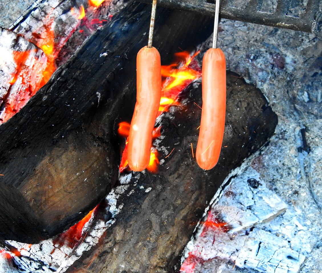 It's not really camping without hotdogs over a fire at least for one night.