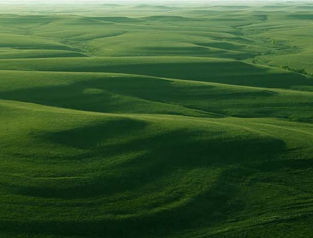 Aerial view of Flint Hills in Spring. Photo from Ron Klataske.