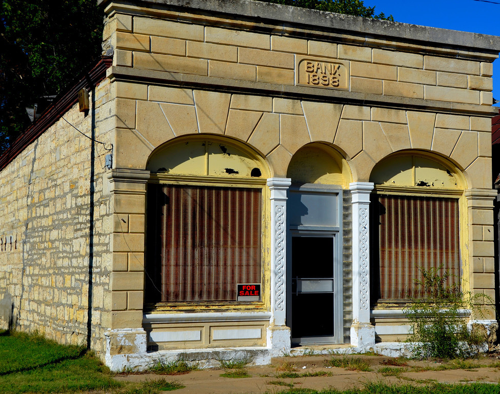 """I always wanted to own a bank. This one in Elmdale is for sale.<br /> <br /> Population of this once thriving town is now about 50. The great flood of 1951 caused many to leave.<br /> <br /> <br /> <a href=""""http://www.galenfrysinger.com/kansas_elmdale.htm"""">http://www.galenfrysinger.com/kansas_elmdale.htm</a><br /> <br /> <a href=""""http://specialcollections.wichita.edu/kw/images.asp?xfile_name=kw_elmdale_chase_ks1.jpg"""">http://specialcollections.wichita.edu/kw/images.asp?xfile_name=kw_elmdale_chase_ks1.jpg</a>"""