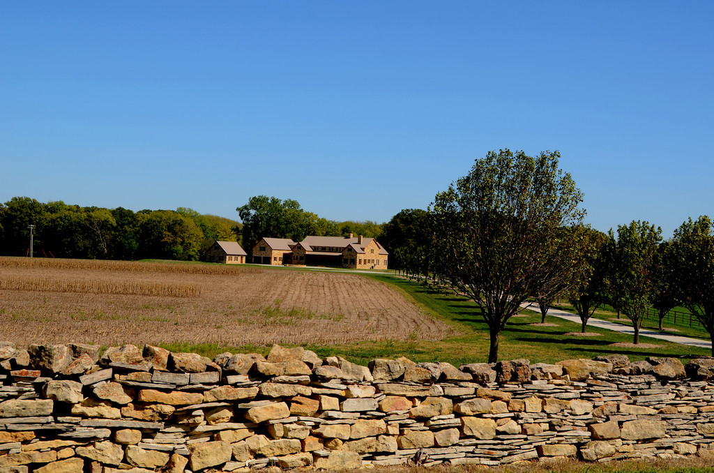 Near the Pioneer Bluffs, a new ranch appears and seems to fit right in architecturally..