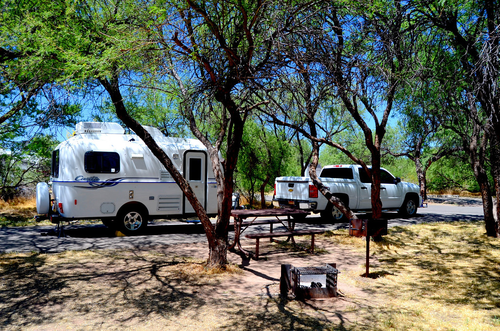 Mesquite trees provided good shade in the Quail Loop Campground