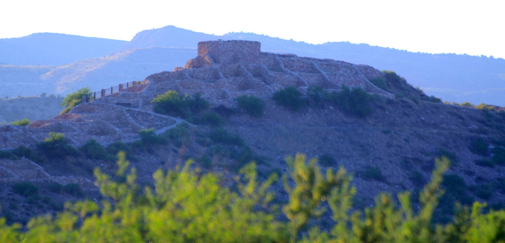 Tuzigoot ruins are visible from a hill on Deadhorse Ranch State Park.