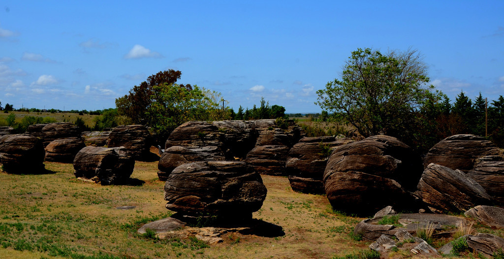 August 14 <br /> <br /> I spend a few hours photographing the rocks said to be the largest sandstone concretions of their kind anywhere. The concentration of rocks was used by early explorers as a landmark. I have to wonder what the Native Americans must of thought about these rocks.