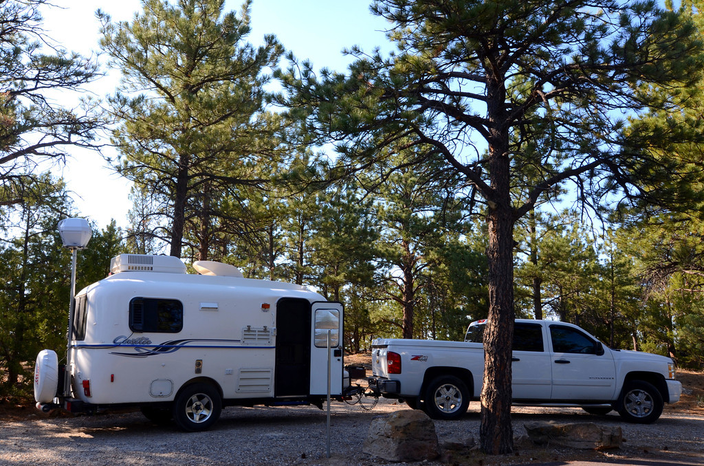 Two Moon Campground, Glendo State Park, Wyoming<br /> <br /> I am on a high hill nestled in fragrant Ponderosa Pines. An overlook to the lake is immediately behind me.
