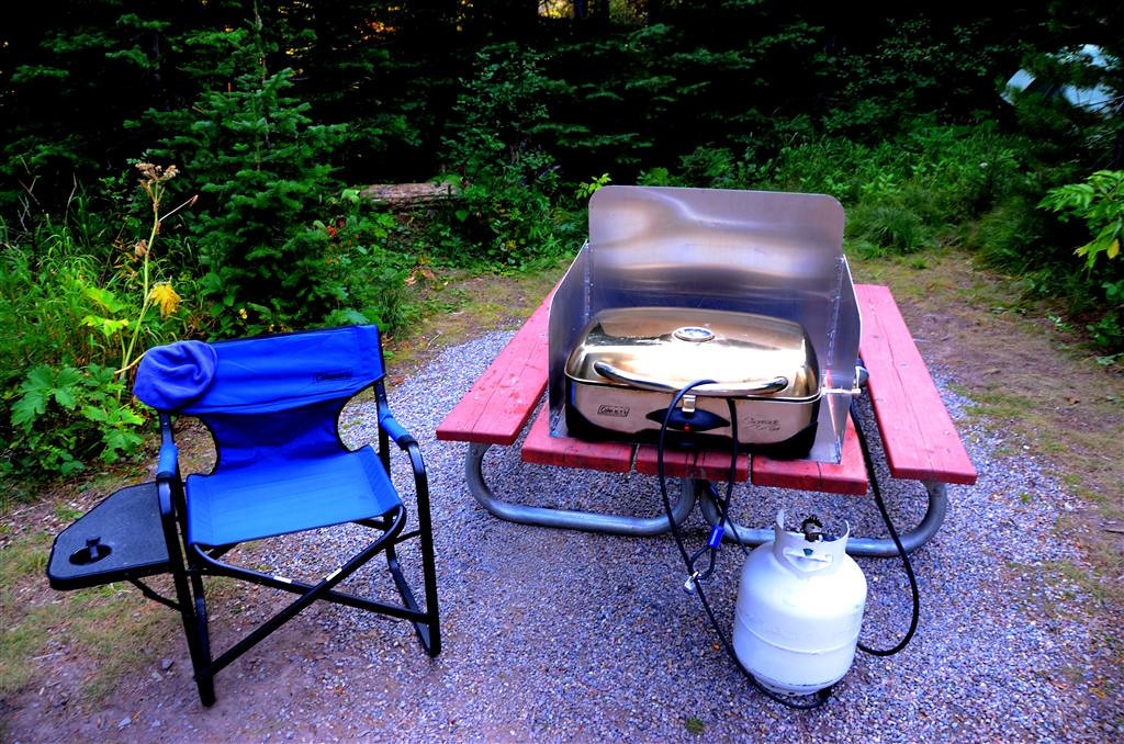 August 27<br /> <br /> The campground rules have changed since my last visit. You can now leave grills outside if they are clean. I run mine at 550 degrees for about 10 minutes after cooking. A clean grill is much less attractive to the bears. On a prior visit you could not even leave water containers outside.