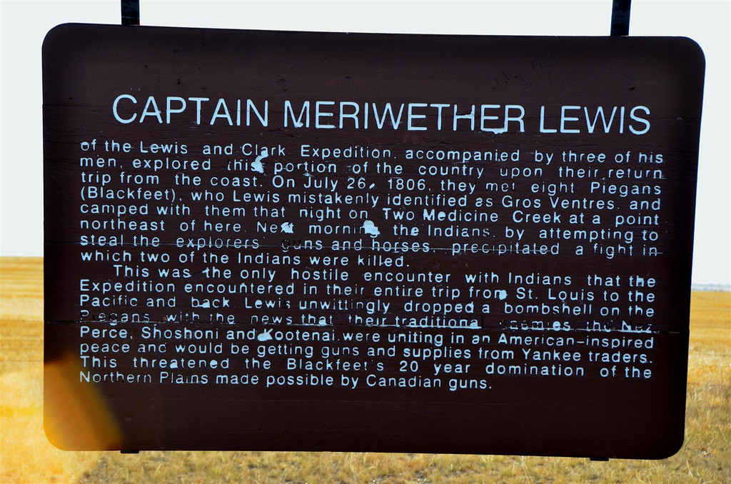 September 3<br /> <br /> A historical marker along the way memorializes a low point of the Lewis and Clark expedition.