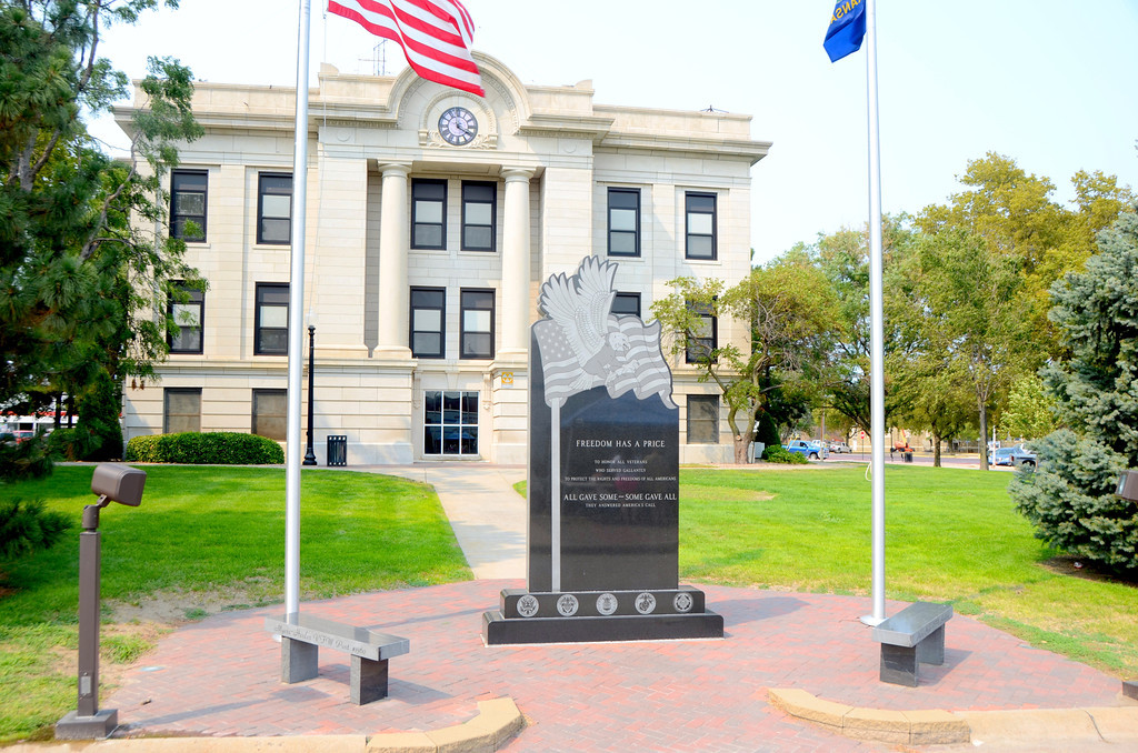 August 15<br /> <br /> Phillipsburg, Ks Courthouse, a tribute to veterans.
