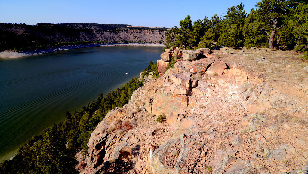 August 17<br /> <br /> Bluff overlooking Glendo Lake.
