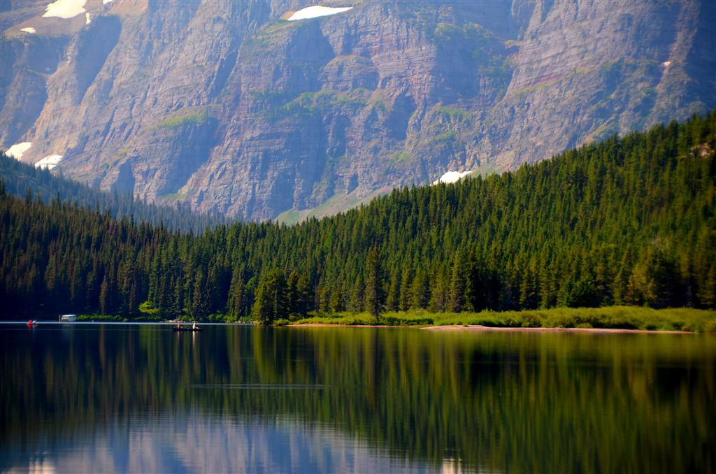 August 31 <br /> <br /> Swiftcurrent Lake canoes