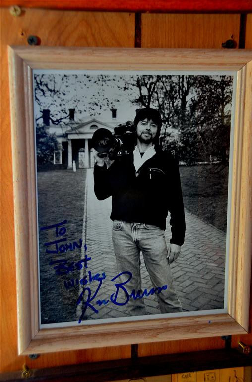 August 29<br /> <br /> Ken Burns visits Two Sisters Cafe. John tells me that Ken gave it to them when they stopped at Two Sisters during the filming of the PBS National Parks series. The series is a full time resident in my Casita.