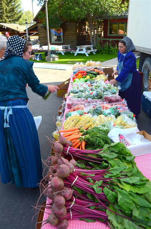 "September 3<br /> <br /> Luscious produce from the Rockport Colony of Hutterites.<br /> <br /> ""Hutterites (German: Hutterer) are a communal branch of Anabaptists who, like the Amish and Mennonites, trace their roots to the Radical Reformation of the 16th century. Since the death of their founder Jakob Hutter in 1536, the beliefs of the Hutterites, especially living in a community of goods and absolute pacifism, have resulted in hundreds of years of odyssey through many countries. Nearly extinct by the 18th and 19th centuries, the Hutterites found a new home in North America. Over 125 years their population grew from 400 to around 42,000."""