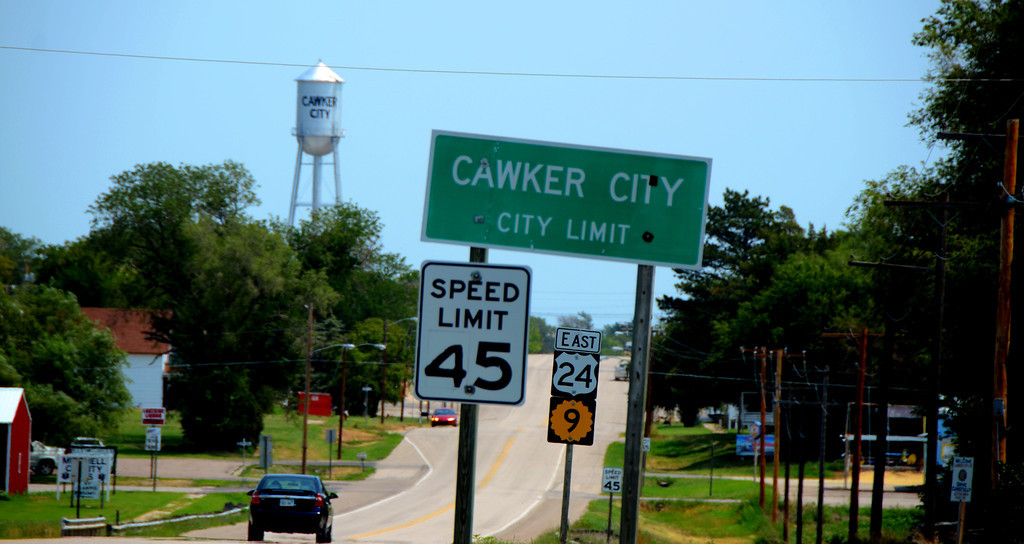 August 15<br /> <br /> I leave Glen Elder Lake late in the morning.  By fate my route takes me to Cawker City, KS.<br /> <br /> I had forgotten that one of the  marvels of the world exists there.