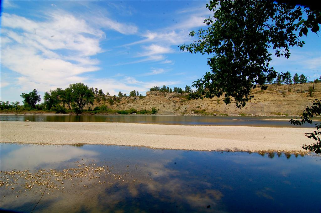 August 19<br /> <br /> Yellowstone River near Pompey's Pillar