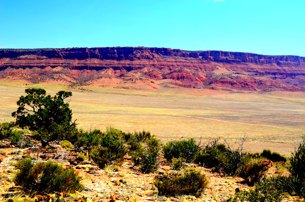 Miles of the Vermillion Cliffs serve as a good visual warmup for my visit to the North Rim.