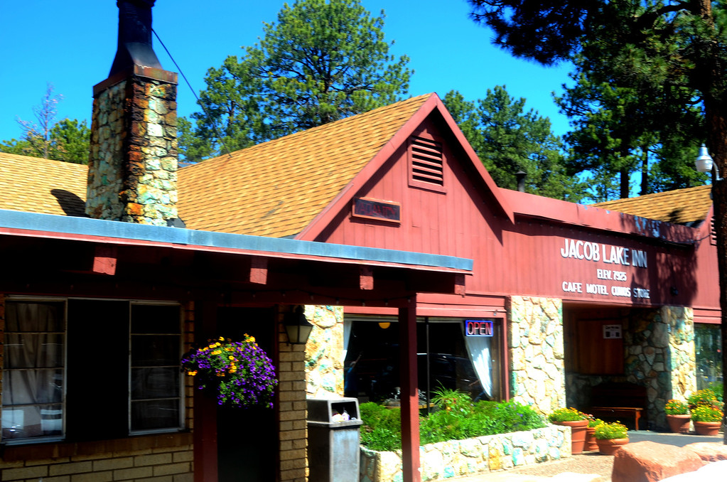The Jacob Lake Inn is a special place. Do yourself a real favor and stop by when you are at the North Rim. When you pull up to the service station there, they come up and check the fluids in your vehicle, pump your gas and tell you about the Inn. How long has it been since you were at a station that did that? <br /> <br /> The extra service it turns out is a way for the attendant to tell you about the gift shop and bakery there. The tactic worked for me on my first visit there. They have a special gift shop and bakery there. The Inn is now a scheduled stop on any of my visits to the North Rim. John Rich the 3rd generation proprietor there tells me the family has been trading with the natives since the 1920's. He currently trades with over 20 tribes. They have a wonderful selection of pottery and blankets.<br /> <br /> I spoke to some of the college kids working there. They are recruited from Utah colleges and they all seemed to really enjoy working there. They are primarily fresh faced smiling Mormon kids. They are a big part of making this a special place.<br /> <br /> One employee starts reciting Mazlow's hierarchy of needs to me and how the Rich's take care of all their shelter and food needs and how she gets her social and acceptance needs met with her coworkers there. She tells me the employees are encouraged to experience the area together. She tells me how excited she was the first week she was there, John Rich took her on a trading trip wth the Indians.  <br /> <br /> I eat a couple of meals there, buy some pottery, treat myself to some of their bakery items and read all the history on the walls at the Inn. I leave once again thinking that this is a special place and some business school should stop by and research it, package what they are doing right, and migrate it to different businesses.