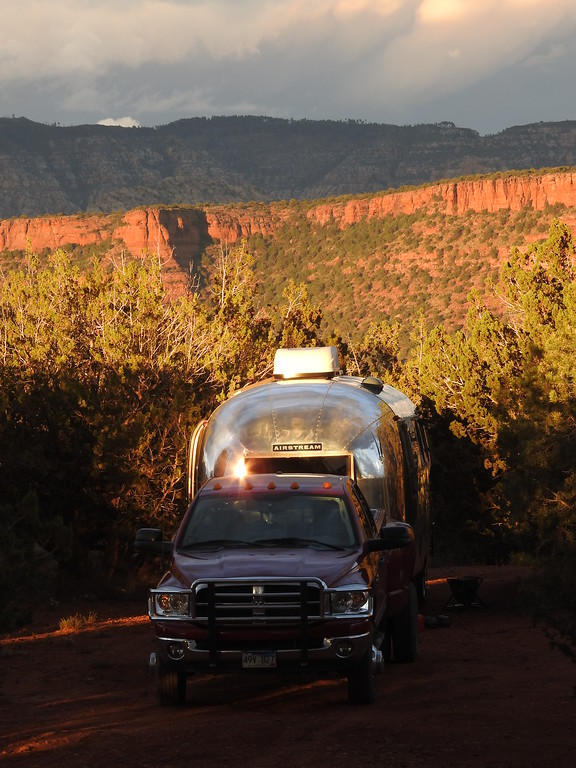 My friends, Craig and Sally join me at my campsite. They recently upgraded their vintage trailer with boondocking capabilities including solar and generator equipment.