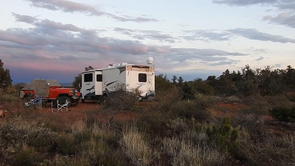Sunset panorama at Camp Grumpella.