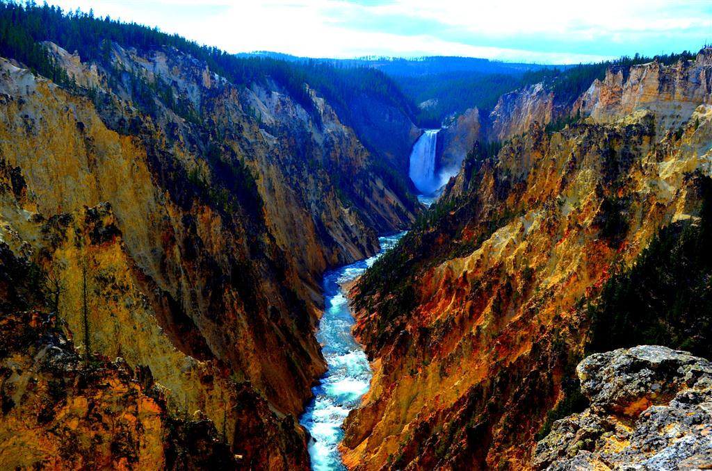September 9<br /> <br /> Grand Canyon of the Yellowstone.  The colors of the canyon contrasted with the water are beautiful.