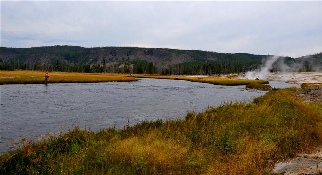 September 6<br /> <br /> I fish the famous Firehole River that is a classic to most fly fishermen.