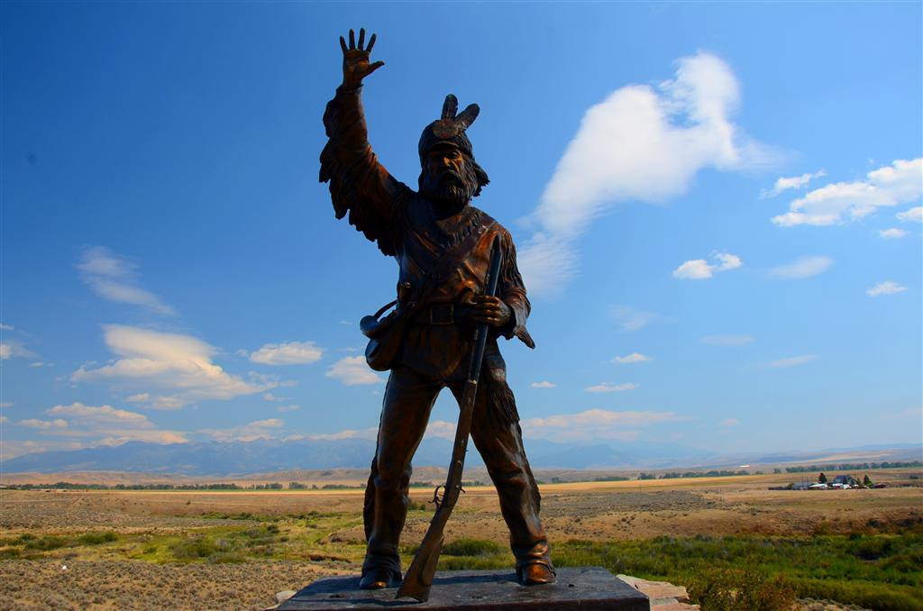 September 4<br /> <br /> Mountain Man statue along Shield River