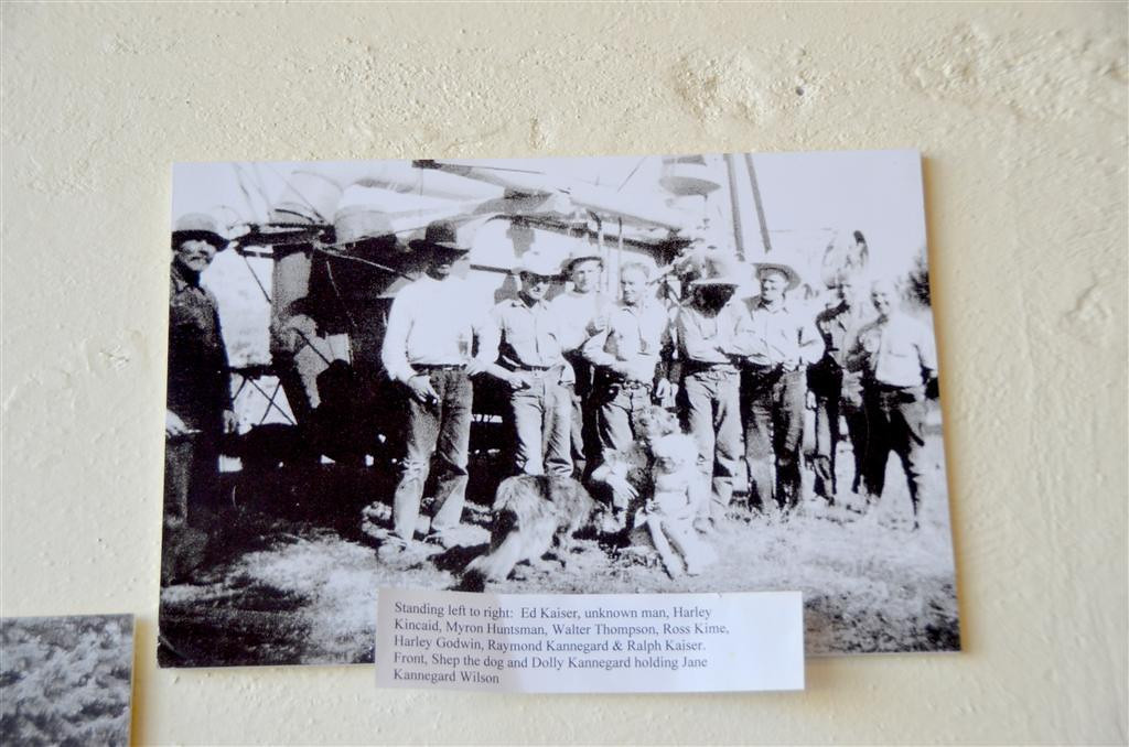 September 4<br /> <br /> Wilsall, Mt. The restaurant contains a well documented history of the town and its residents. Old photographs reflect the names of all participants including the dog.