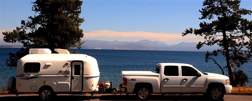 September 8<br /> <br /> Evening light along Yellowstone Lake shoreiine.