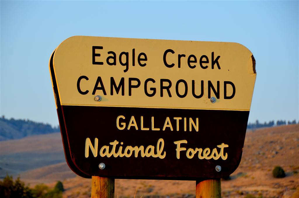 September 4<br /> <br /> As the sun is going down, I locate Eagle Creek Campground on a rugged road high above Gardiner. I was advised of this campground by an employee of the local fly fishing store. I would not of been aware of it otherwise.
