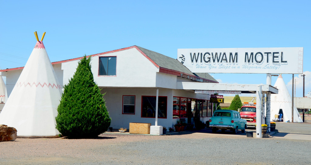 "Most of the relics along Route 66 are dead or dying now. I was pleased to see that the Wigwam Motel is still operating. Help keep the spirit of<br />  Route 66 alive and spend a night or two at the Motel if you are in the Petrified Forest Area.<br /> <br /> ""Built in 1950 by Arizona motel owner Chester E. Lewis. Lewis operated the motel successfully until closing it in 1974 when Interstate 40 bypassed downtown Holbrook. Two years after his death in 1986, sons Clifton, Paul Lewis and daughter Elinor renovated the motel, finally reopening it in 1988.<br /> <br /> The Lewis family continues to run and maintain Wigwam Village. Elinor often shows up at 4:00 am to open the office, and if requested, will fill a small ice bucket (there is no ice machine in keeping with the authenticity of the restoration) for customers. Near the registration desk is a small room which contains many of Chester Lewis' memorabilia (including a necklace of human teeth of unknown origin)."""