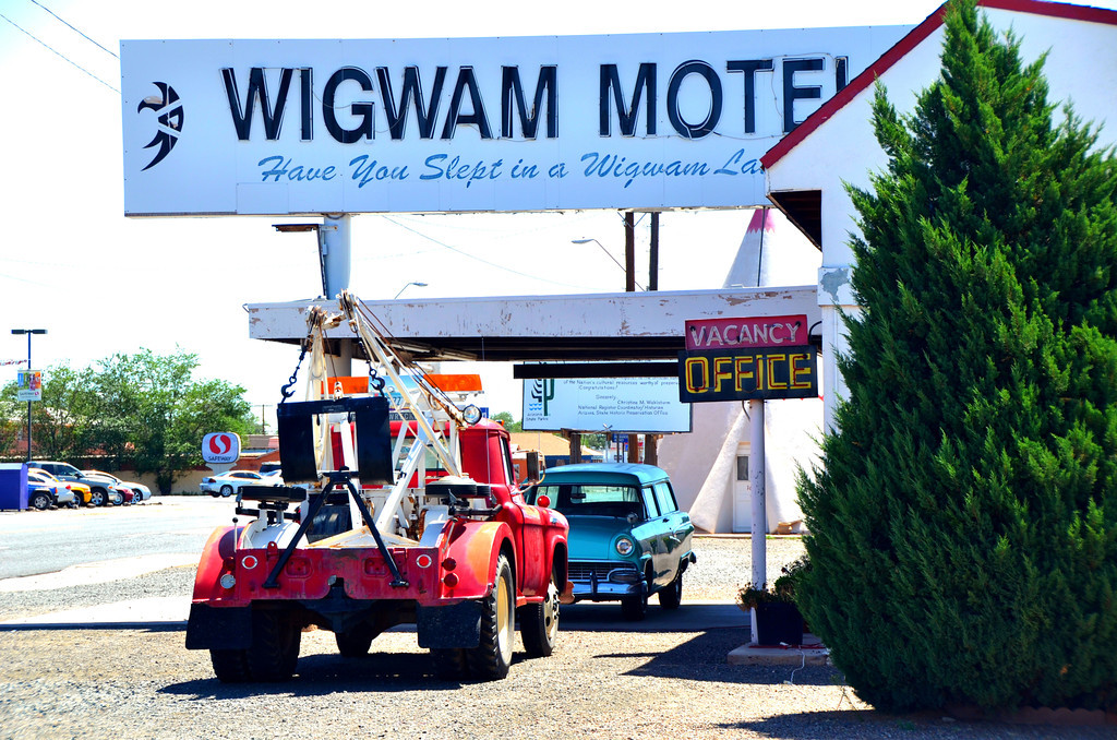 """The history of the Wigwam Motel is very interesting for many people.  Our father, Chester E. Lewis, had other motels along Old Route 66 in the 1930's in other Arizona cities.  He saw his first Wigwam Village in Cave City, Kentucky in 1938.  A man by the name of Frank Redford already had a couple of Wigwam Villages built in Kentucky by that time. <br /> <br /> Our father decided that he would like to build a Wigwam Village of his own.  In that time period, the term franchises or chain motels were not known of, much less used.  Mr. Redford was more interested in sharing his novel idea than making money. Mr. Lewis and Mr. Redford came to an agreement that radios would be placed in each Wigwam that would play for one half hour for a silver dime.  Mr. Redford would then receive the dimes from the radios for a period of some years in payment for the use of his plans. <br /> <br /> There were seven of these Wigwam Villages built from the 1930's to the 1950's from Florida to California. The one, here in Holbrook, receives a lot of media attention due to it being located on Route 66 and located near several Native American Reservations,Navajo, Hopi, White Mountain Apache Reservations.  There are several vintage automobiles that are around the perimeter of the property. <br /> <br /> The Wigwam Motel was listed on the National Register of Historic Places on May 2, 2002. """