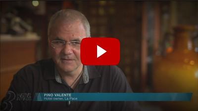 Interview to Pino Valente, Hotel La Pace, Cassino, Italy.
