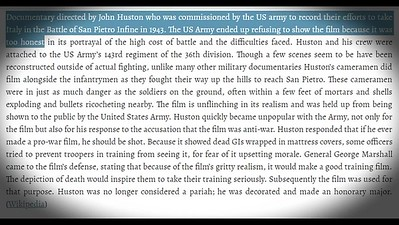 Battle of San Pietro with John Huston interview -Part 1-