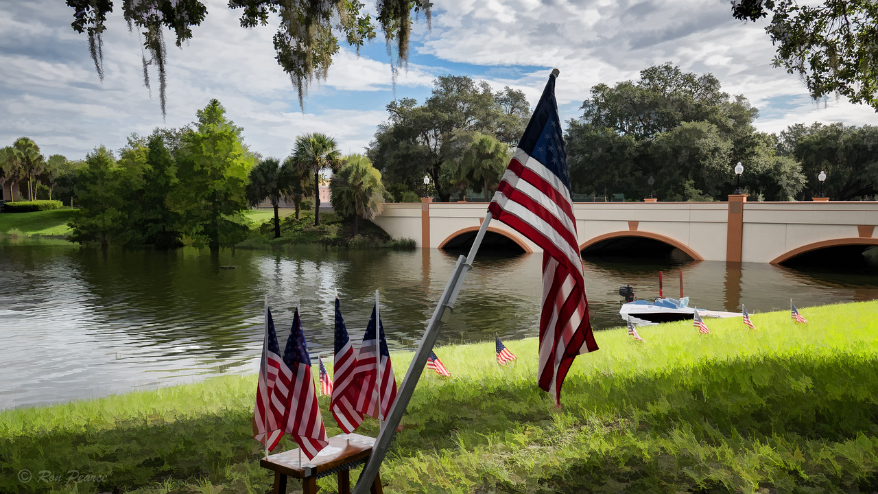The Villages is home to the largest contingency of military veterans in the state.  At the beginning of this segment of Camp Villages, the kids are given a brief history lesson on the American Flag and the Pledge of Allegiance