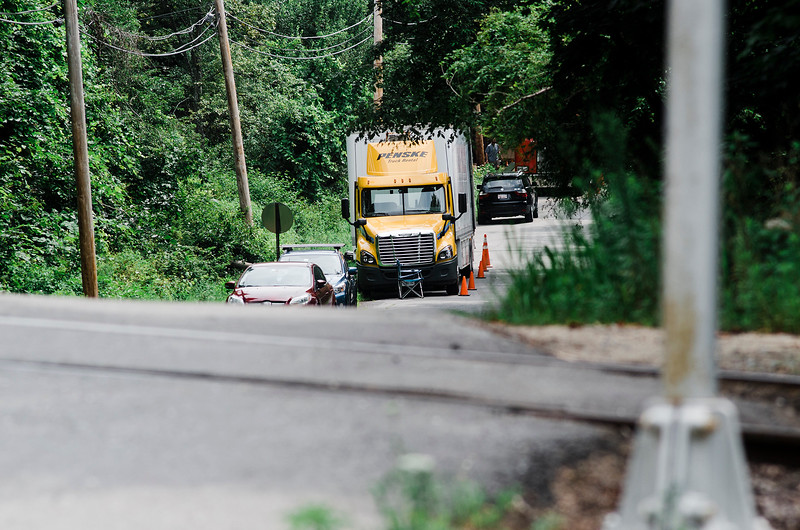 Filming was underway on Neck Road in Lancaster for the Stephen King miniseries Castle Rock on Wednesday, August 2, 2017. SENTINEL & ENTERPRISE / Ashley Green