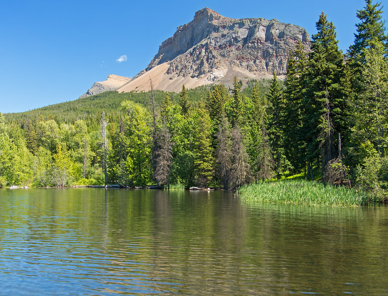 The two summits of Table Mountain, as seen from near the trailhead at Beaver Mines Lake.